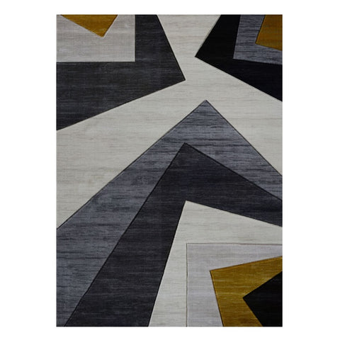 Canterbury 1127 Grey Gold Patterned Modern Rug - Rugs Of Beauty - 1