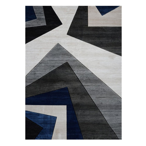 Canterbury 1127 Grey Blue Patterned Modern Rug - Rugs Of Beauty - 1