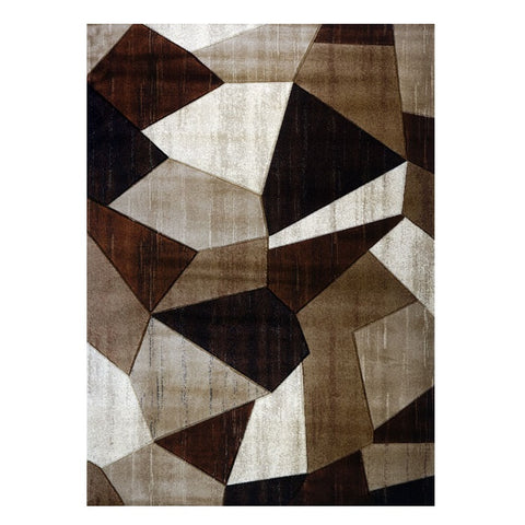Canterbury 1128 Beige Brown Patterned Modern Rug - Rugs Of Beauty - 1