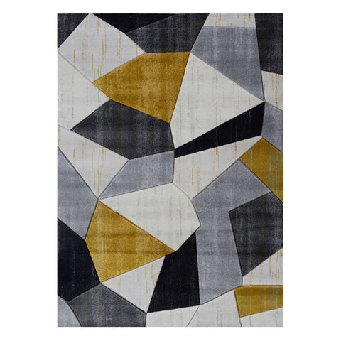 Canterbury 1128 Grey Gold Patterned Modern Rug - Rugs Of Beauty - 1