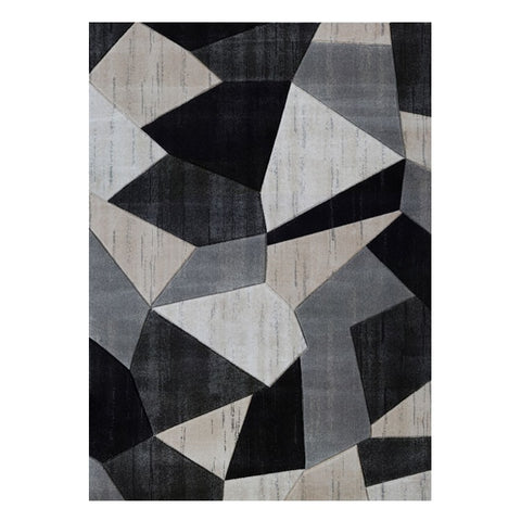 Canterbury 1128 Grey Beige Patterned Modern Rug - Rugs Of Beauty - 1