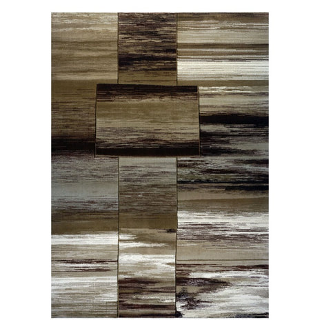 Canterbury 1130 Taupe Beige Brown Abstract Patterned Modern Rug - Rugs Of Beauty - 1