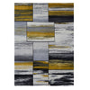 Canterbury 1130 Grey Gold Abstract Patterned Modern Rug - Rugs Of Beauty - 1
