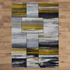 Canterbury 1130 Grey Gold Abstract Patterned Modern Rug - Rugs Of Beauty - 3