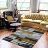 Canterbury 1130 Grey Gold Abstract Patterned Modern Rug - Rugs Of Beauty - 2