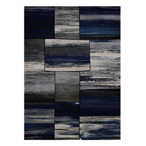 Canterbury 1130 Grey Blue Abstract Patterned Modern Rug - Rugs Of Beauty - 1