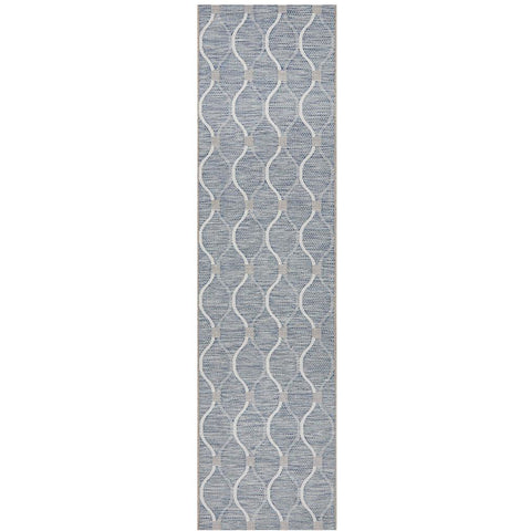 Siderno 4111 Blue Modern Indoor Outdoor Runner Rug - Rugs Of Beauty - 1