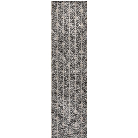Siderno 4112 Black Modern Indoor Outdoor Runner Rug - Rugs Of Beauty - 1
