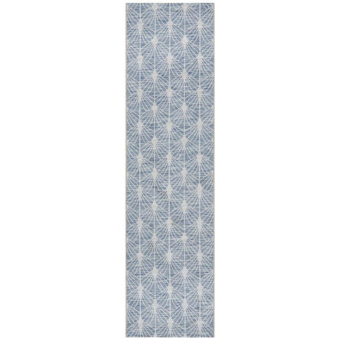 Siderno 4112 Blue Modern Indoor Outdoor Runner Rug - Rugs Of Beauty - 1