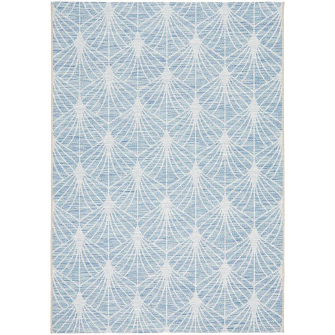 Siderno 4112 Blue Modern Indoor Outdoor Rug - Rugs Of Beauty - 1