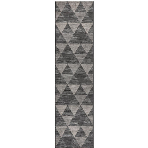 Siderno 4113 Black Modern Indoor Outdoor Runner Rug - Rugs Of Beauty - 1