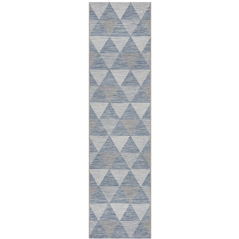 Siderno 4113 Blue Modern Indoor Outdoor Runner Rug - Rugs Of Beauty - 1