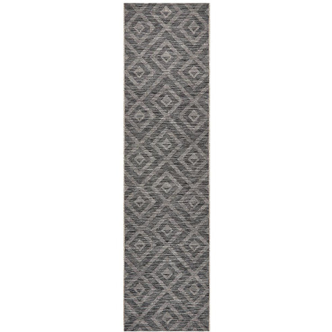 Siderno 4114 Black Modern Indoor Outdoor Runner Rug - Rugs Of Beauty - 1