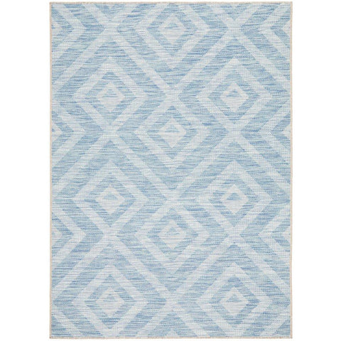 Siderno 4114 Blue Modern Indoor Outdoor Rug - Rugs Of Beauty - 1