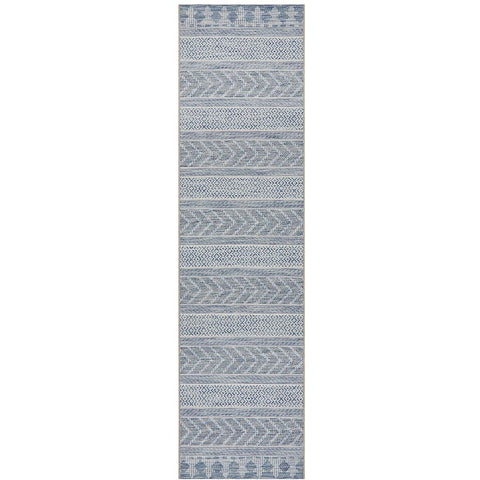 Siderno 4115 Blue Modern Indoor Outdoor Runner Rug - Rugs Of Beauty - 1