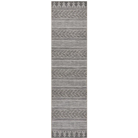 Siderno 4115 Grey Modern Indoor Outdoor Runner Rug - Rugs Of Beauty - 1