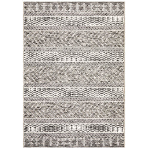 Siderno 4115 Grey Modern Indoor Outdoor Rug - Rugs Of Beauty - 1