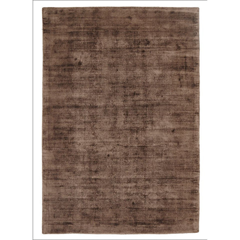 Twilight Luxe Modern Distressed Brown Viscose Rug - Rugs Of Beauty
