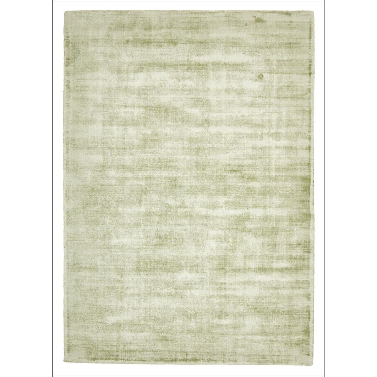 Twilight Luxe Modern Distressed Green Viscose Rug Rugs