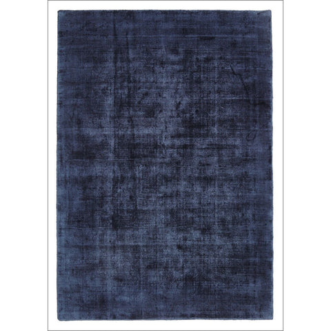 Twilight Luxe Modern Distressed Navy Viscose Rug - Rugs Of Beauty