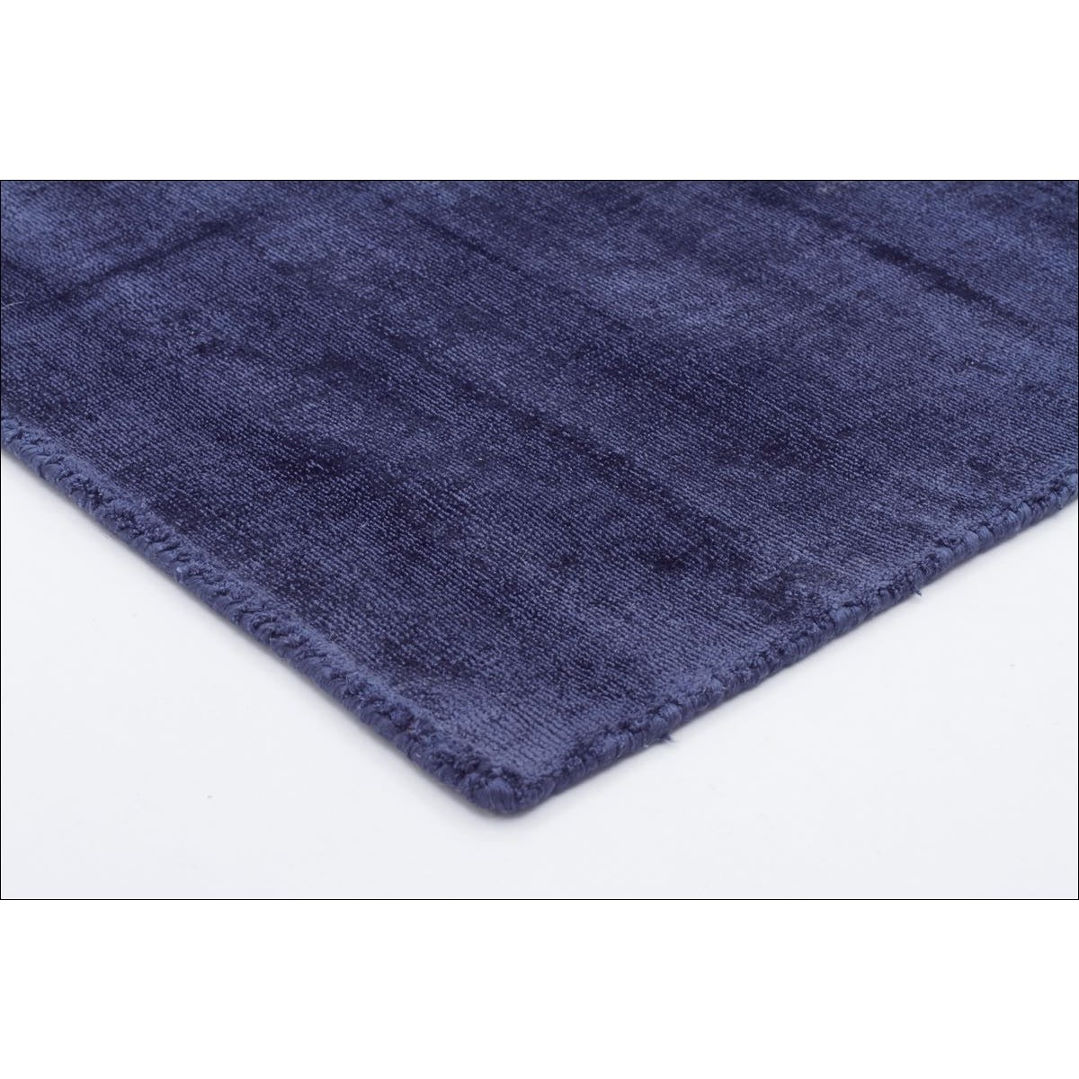 Twilight Luxe Modern Distressed Navy Viscose Rug Rugs Of