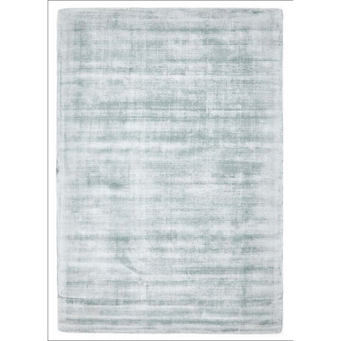Twilight Luxe Modern Distressed Sky Blue Viscose Rug - Rugs Of Beauty