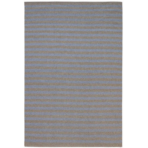 Santos Grey Beige Striped Patterned Indoor Outdoor Flatweave Rug - Rugs Of Beauty