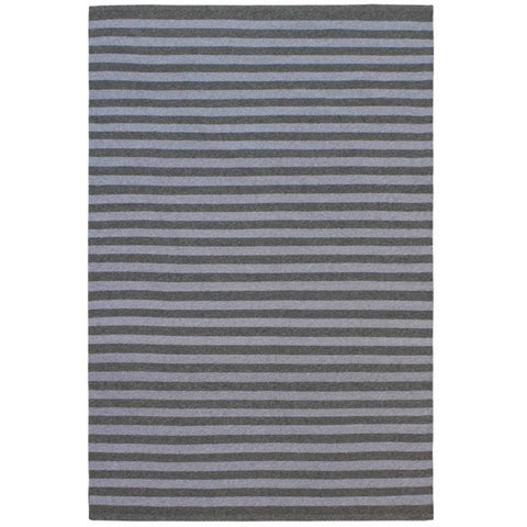 Santos Light Grey Green Striped Patterned Indoor Outdoor Flatweave Rug - Rugs Of Beauty