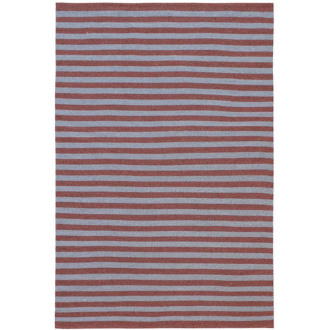 Santos Grey Red Striped Patterned Indoor Outdoor Flatweave Rug - Rugs Of Beauty