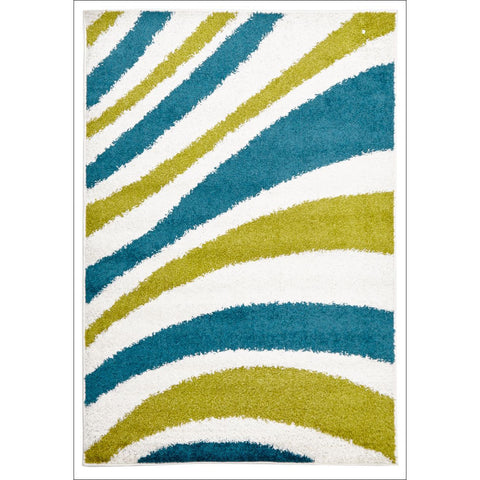 Burst Shag Rug Blue and Green - Rugs Of Beauty - 1