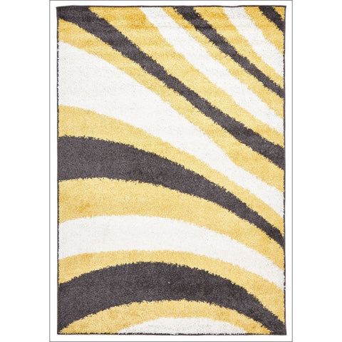 Burst Shag Rug Yellow and Charcoal - Rugs Of Beauty - 1