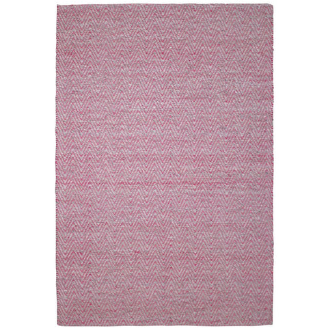 Atlantis Red Flatweave Herringbone Chevron Wool Rug
