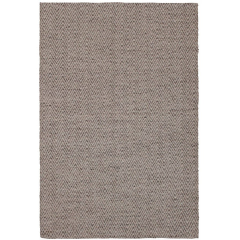 Atlantis Beige and White Flatweave Herringbone Chevron Wool Rug