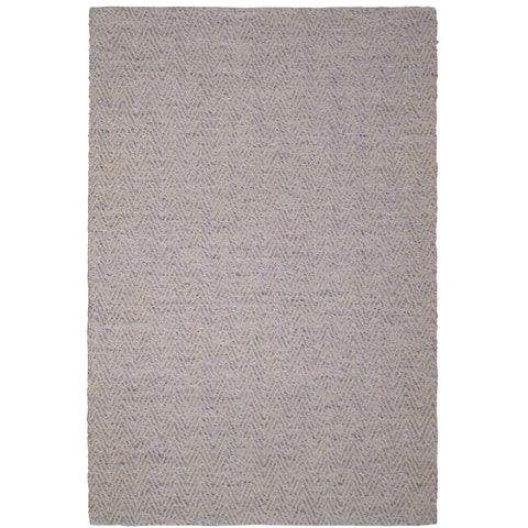 Atlantis Beige and Yellow Flatweave Herringbone Chevron Wool Rug - Rugs Of Beauty