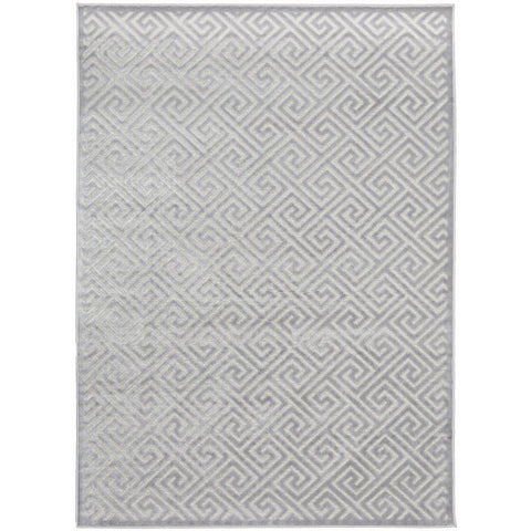 Skien 530 Luxe Modern Silver Grey Rug - Rugs Of Beauty - 1
