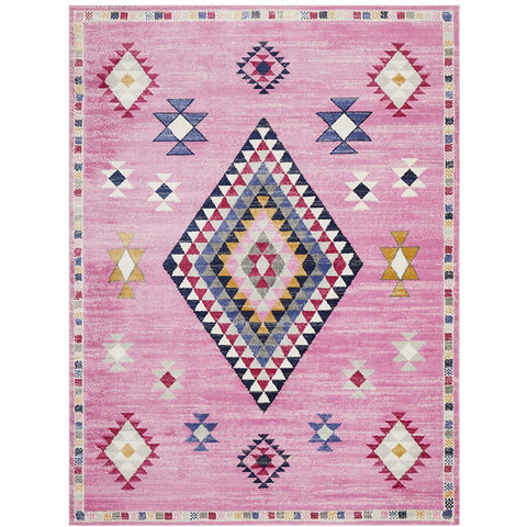 Louga 332 Pink Modern Tribal Rug - Rug Of Beauty - 1
