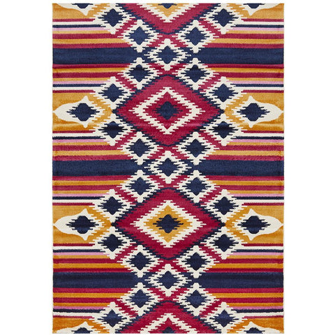Louga 336 Multi Coloured Modern Tribal Rug - Rug Of Beauty - 1