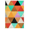 Abilene Geometric Multi Coloured Triangle Patterned Rug - Rugs Of Beauty