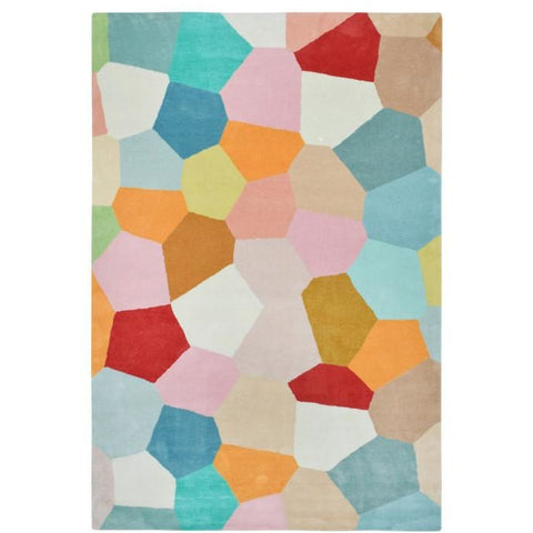 Abilene Geometric Multi Coloured Pastel Patterned Rug - Rugs Of Beauty