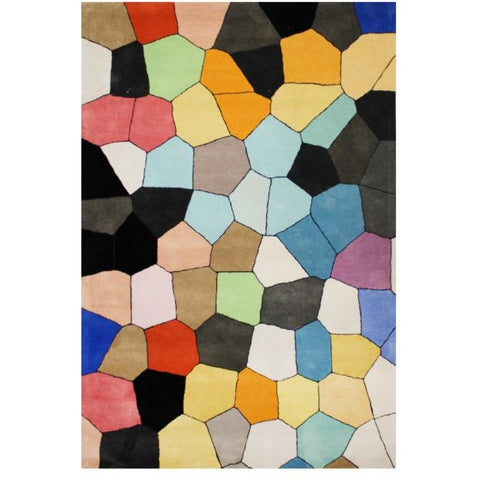 Abilene Geometric Multi Coloured Bright Pixel Patterned Rug - Rugs Of Beauty