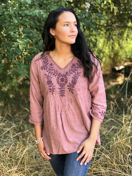 Amara - Canyon tunic blouse - Abrazo Style Shop