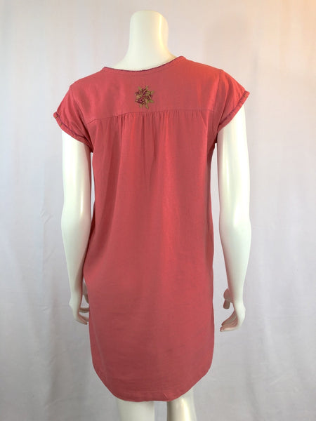 Belen - coral tunic dress - Abrazo Style Shop