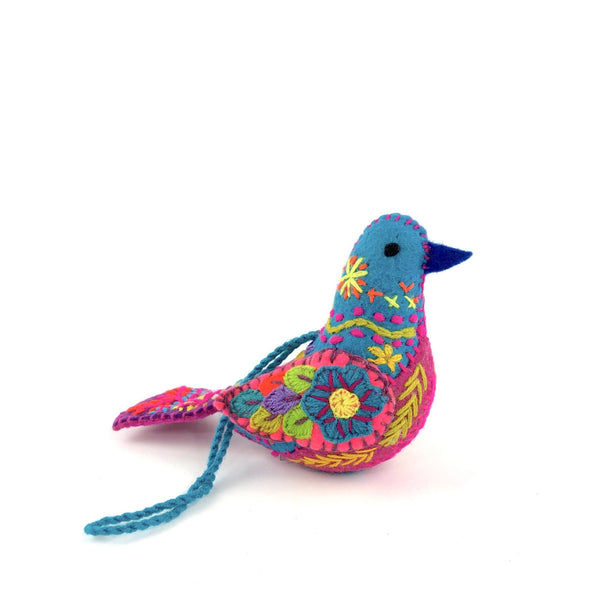 Embroidered Song Birds - Abrazo Style Shop