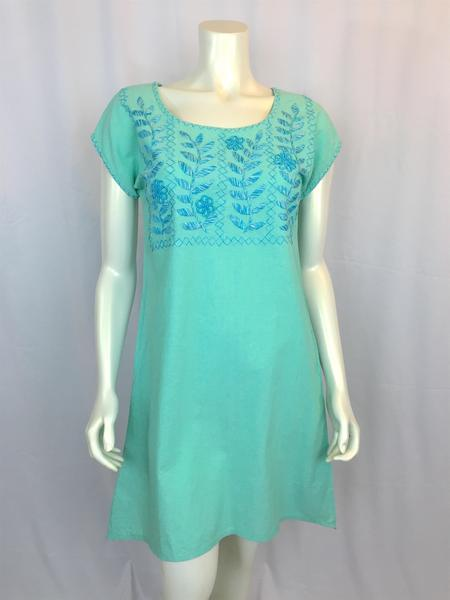 Lilia - aqua dress - Abrazo Style Shop
