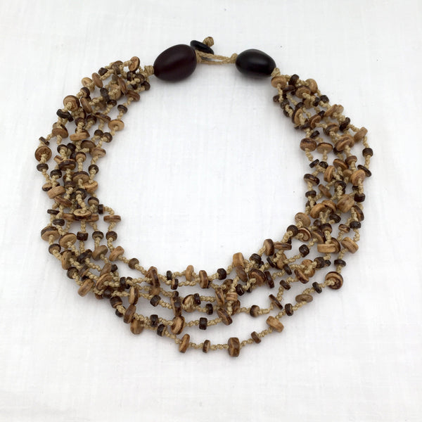 Puerto Angel coconut shell necklace - Abrazo Style Shop