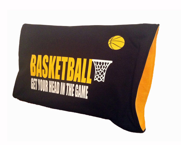 Stickheads basketball pillowcase for dorm bedding, sports themed rooms and basketball gifts