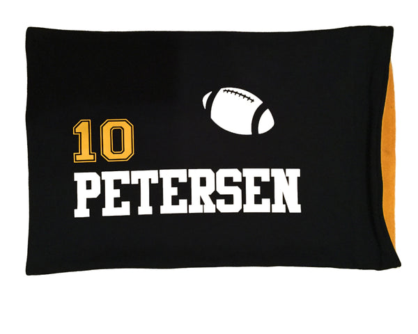 Personalized football player pillowcase
