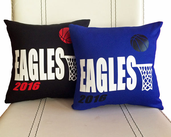 Personalized basketball team pillow