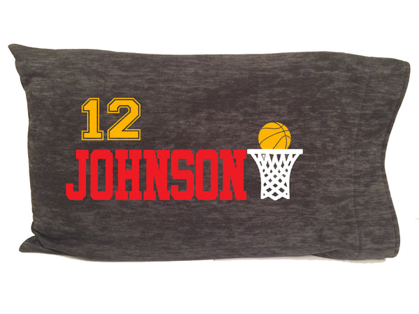 Personalized basketball pillowcase for ball players