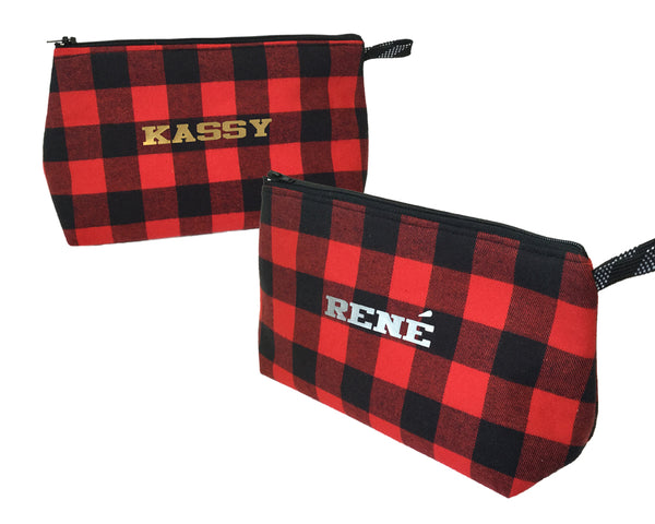 Personalized hockey cosmetic bag